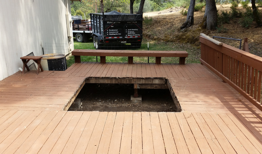 We Remove Any Old, Damaged Decking or Fencing - Manley Hauling in El Dorado, Placer and Sacramento County